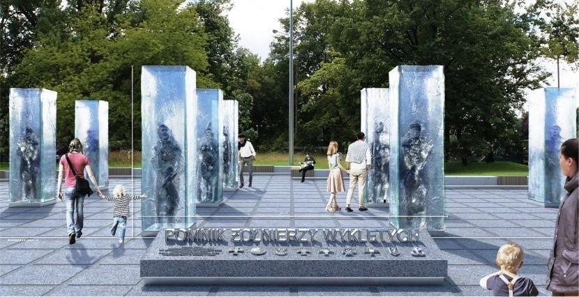 wizualizacja pomnika żołnierzy wyklętych weWrocławiu